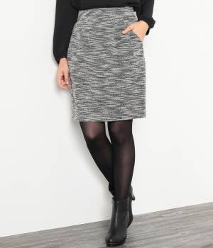 ROPÉ PICNIC - ロペピクニック   【セットアップ対応】ニットツィードタックコクーンスカート