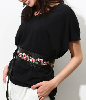 ViS - ビス | 花柄刺繍サッシュベルト