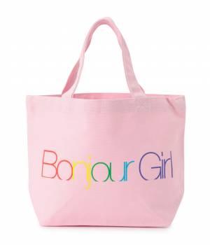 bonjour records - ボンジュールレコード   GIRL LOGO TOTE S
