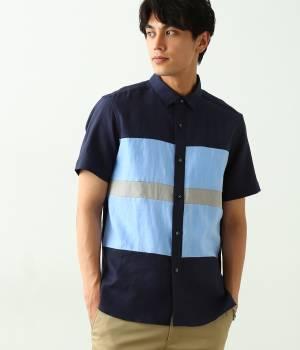 JUNRed - ジュンレッド | ヨコパネル半袖シャツ
