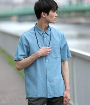JUNRed - ジュンレッド | スナップボタンデニム半袖シャツ