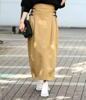 ViS - ビス   【予約】【WEB限定】サイドバックルベルトロングスカート