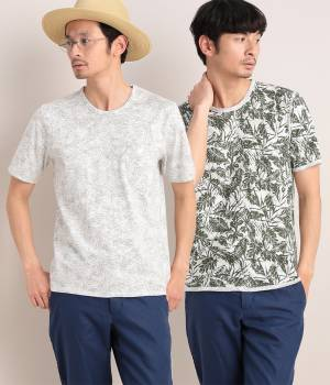 JUNRed - ジュンレッド | TIME SALE ITEM!リーフプリントリバーTシャツ