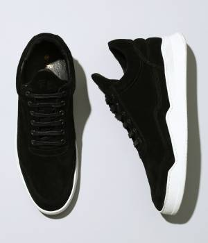 "ADAM ET ROPÉ HOMME - アダム エ ロペ オム | 【Filling Pieces for ADAM ET ROPE'】Black suede leather + Sole White ""Ghost Lean\"""