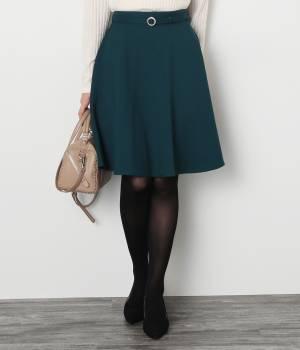 ViS - ビス | 【静電気防止】ベルテッドフレアースカート