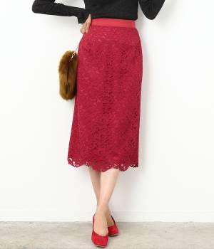 ROPÉ mademoiselle - ロペ マドモアゼル | 【先行予約】モールフラワーレースタイトスカート