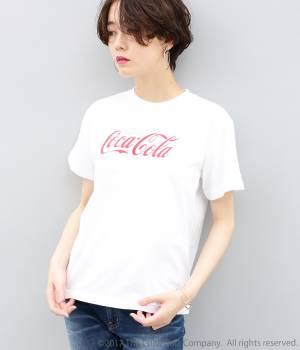 ADAM ET ROPÉ FEMME - アダム エ ロペ ファム   コカ・コーラ プリントTシャツ