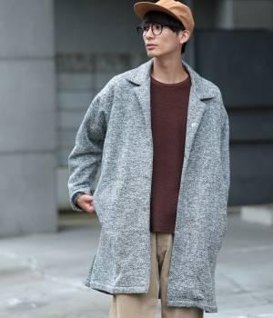 JUNRed - ジュンレッド   【FINEBOYS 12月号掲載】ヘリンボンフリースコート
