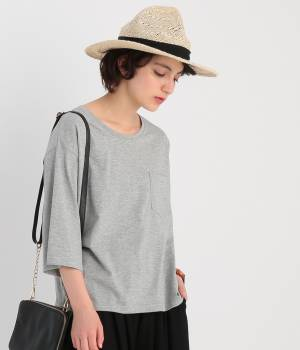 ROPÉ PICNIC - ロペピクニック   ギザブレンドポケット付Tシャツ