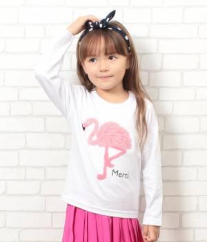 ROPÉ PICNIC KIDS - ロペピクニック キッズ | 【ROPE' PICNIC KIDS】フラミンゴ刺繍Tシャツ