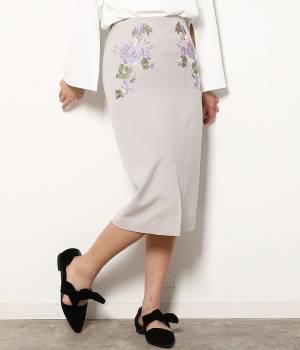 ViS - ビス | 刺繍タイトスカート