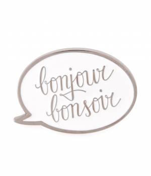 bonjour bonsoir - ボンジュールボンソワール   PINS LOGO