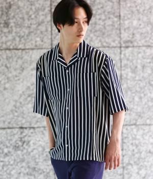 JUNRed - ジュンレッド | ドレープ切り替えストライプシャツ