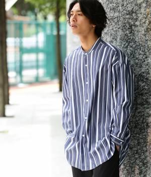 JUNRed - ジュンレッド | 【先行予約】【ストライプ】バンドカラービッグシャツ