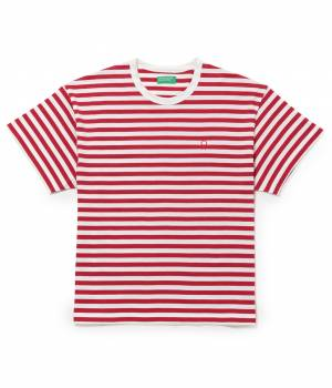 ADAM ET ROPÉ FEMME - アダム エ ロペ ファム | 【先行予約】【UNITED COLORS OF BENETTON. FOR ADAM ET ROPE'】Stripe loop mark t-shirts