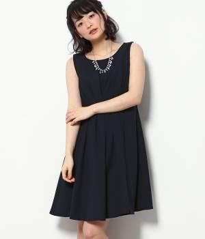 ViS - ビス   【WEDDINGS&PARTIES】ネックレス付きタックドレス