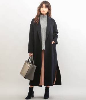 ROPÉ - ロペ | 【トールサイズ】リバーウールマキシ丈コート