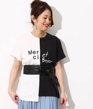 ViS - ビス   カラーブロッキングTシャツ