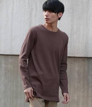 JUNRed - ジュンレッド | ハニカムワッフルロングTシャツ
