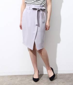 ViS - ビス | ★新色追加★リボンベルト重ね前スリットスカート