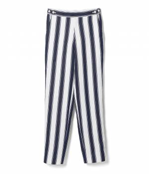ADAM ET ROPÉ FEMME - アダム エ ロペ ファム   FEMME&HOMME 【 ilk ADAM ET ROPE'】ilk linen stripe pants