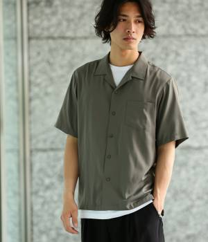 JUNRed - ジュンレッド | 【先行予約】ドレープオープンカラー半袖シャツ