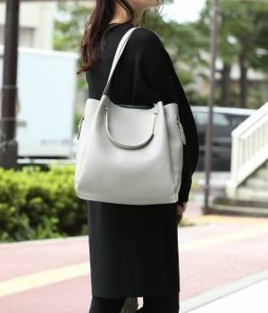 ViS - ビス | 【2WAY】ポーチ付き変形ハンドルトートバッグ