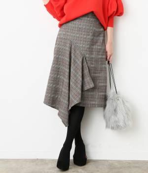 ViS - ビス | アシンメトリーヘムAラインスカート