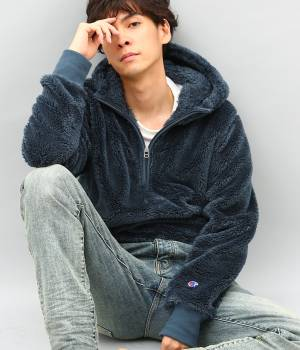 ADAM ET ROPÉ HOMME - アダム エ ロペ オム | 【Champion for ADAM ET ROPE'】 Sherpa Fleece Boa Hoodie