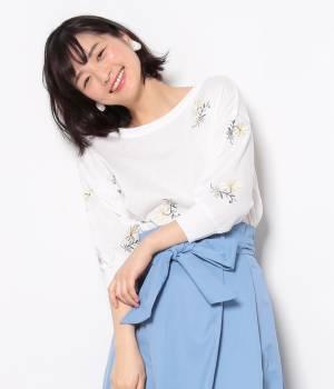 ViS - ビス   【2WAY】花柄刺繍ニットプルオーバー