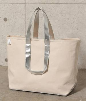 SALON adam et ropé WOMEN - サロン アダム エ ロペ ウィメン   【先行予約】【別注】【MANUFACTURED BY SAILOR'S】SILVER TOTE BAG(L)