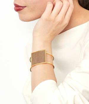 ADAM ET ROPÉ FEMME - アダム エ ロペ ファム | 【TED ROSSI(テッドロッシ)】square bracelet
