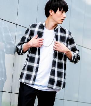 JUNRed - ジュンレッド   ブロードバンドカラー7分袖シャツ