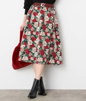 ViS - ビス | 【sweet11月号掲載】【sweet×ViSコラボ】フラワープリントスカート