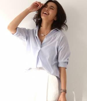 ROPÉ - ロペ   【Oggi5月号掲載】リネン混スキッパーシャツ