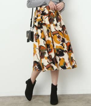 ViS - ビス | 【予約】アートフラワーギャザースカート
