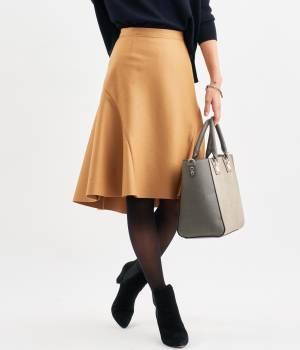 ROPÉ - ロペ   【Oggi12月号掲載】【トールサイズ】メルトンサイドフレアースカート