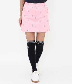JUN&ROPÉ - ジュン アンド ロペ   ワッペン柄プリントカラーブロックスカート