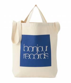 bonjour records - ボンジュールレコード   BOX SHOULDER TOTE