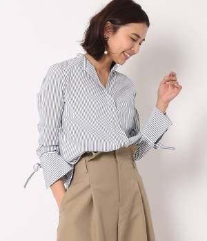 ROPÉ - ロペ | 【トールサイズ】袖カフスリボンストライプシャツ