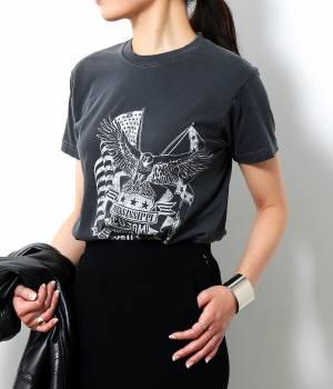 ROPÉ mademoiselle - ロペ マドモアゼル | 【ロペ マドモアゼル×AYA KANEKO】ヴィンテージプリントTシャツ