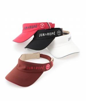 JUN&ROPÉ - ジュン アンド ロペ | 配色ライン使いロゴ入りサンバイザー