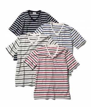 JUNRed - ジュンレッド   【今だけ!WEB店舗限定41%OFF】機能性ボーダーTシャツ
