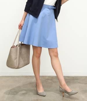 ViS - ビス | ベルト付きフレアースカート