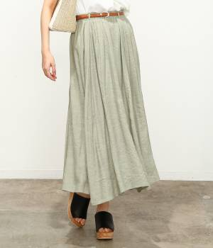 ViS - ビス | 【SET】ベルト付きスラブローンギャザースカート