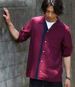 JUNRed - ジュンレッド | タテパネル長袖開襟シャツ
