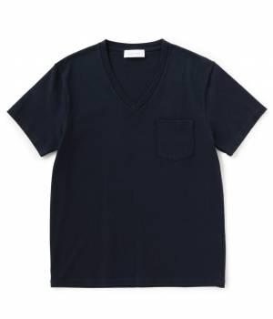 ADAM ET ROPÉ HOMME - アダム エ ロペ オム   度詰め天竺VネックTシャツ 2016SS
