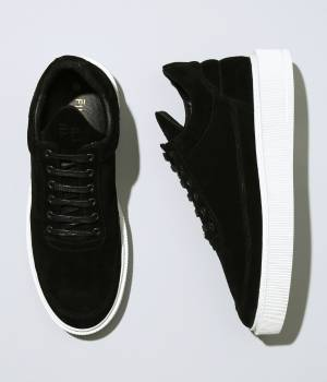 "ADAM ET ROPÉ HOMME - アダム エ ロペ オム | 【Filling Pieces for ADAM ET ROPE'】Black suede leather + Sole White ""DRESS CUP\"""