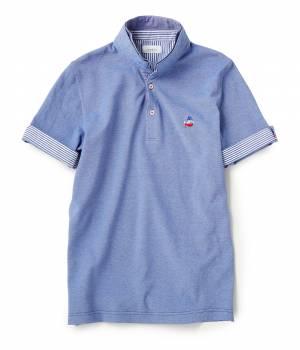 JUNRed - ジュンレッド | バーズアイカノコWカラーポロシャツ