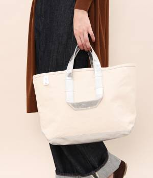 SALON adam et ropé WOMEN - サロン アダム エ ロペ ウィメン | 【別注】【MANUFACTURED BY SAILOR'S】SILVER TOTE BAG(S)